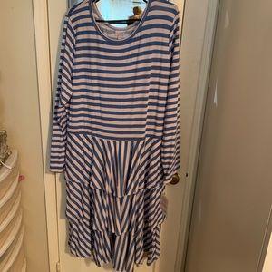 Lularoe Georgia tiered ruffle dress 3xl